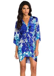 T-Bags LosAngeles Long Sleeve Knot Dress in Blue