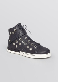 Stuart Weitzman Lace Up High Top Sneakers - Cyclist