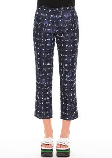 Marni Square-Print Ankle Pants
