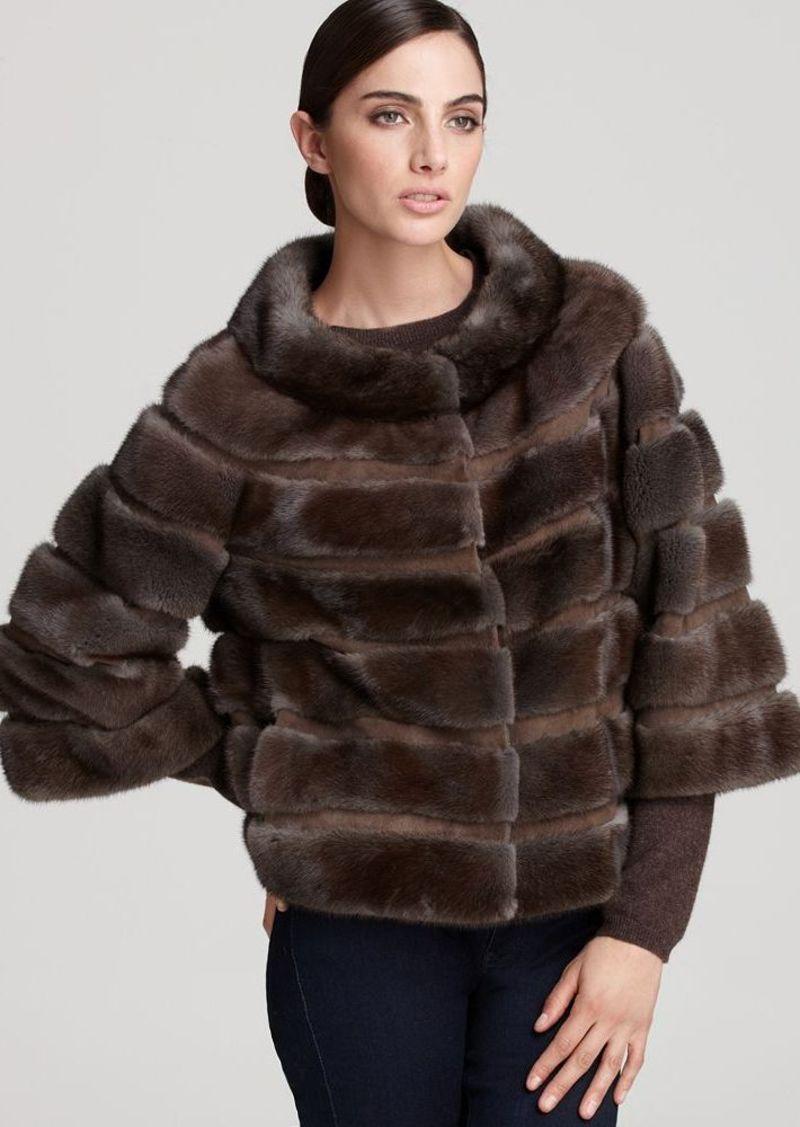 "Carmen Marc Valvo Couture for Maximilian 20"" Mink Fur Jacket"