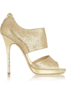 Jimmy Choo Private glittered leather sandals