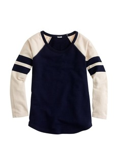 Stripe-sleeve sweatshirt