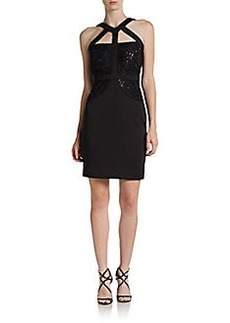 Calvin Klein Embellished Cutout Cocktail Dress