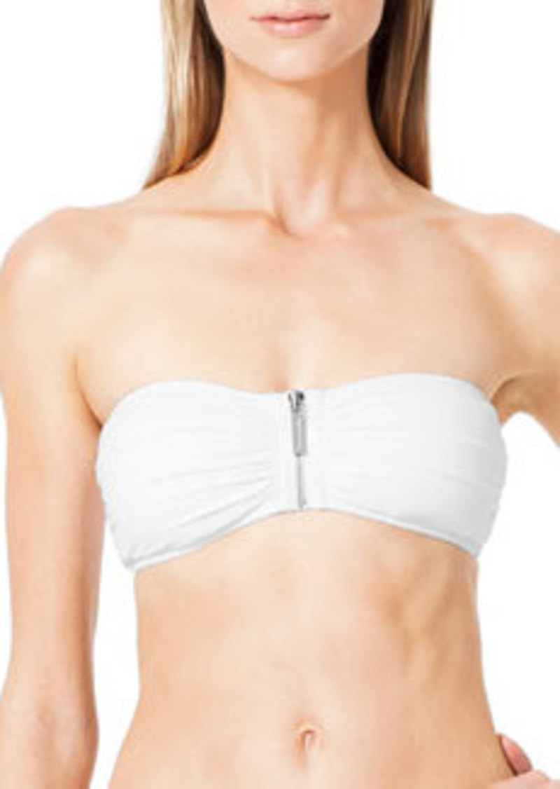 Tunisia Front-Zip Bandeau Top   Tunisia Front-Zip Bandeau Top