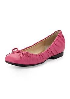 Taryn Rose Pintucked Ballet Flat, Pink