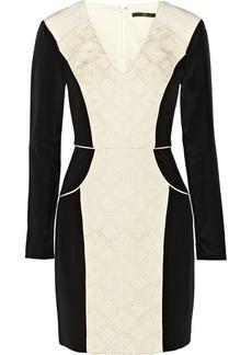 Tibi Cady and jacquard dress