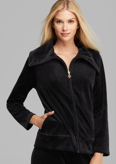 Joan Vass Casual Velour Jacket