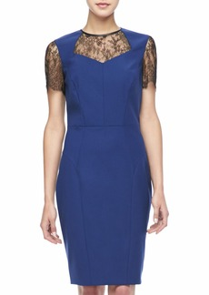 Jason Wu Short-Sleeve Lace Combo Dress