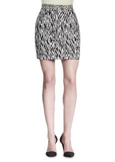 Proenza Schouler Abstract-Print Miniskirt
