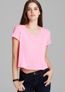 Splendid Tee - Roll Sleeve Slight Crop
