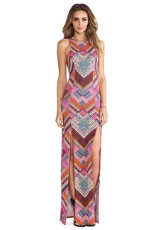 Mara Hoffman High Slit Maxi Dress in Pink