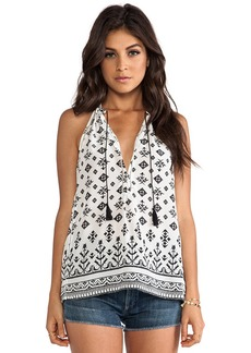 Joie Eniko Tribal Mix Printed Tank in White