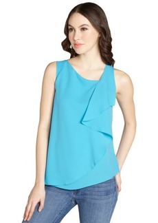 Tahari cobalt shine 'Avelon' sleeveless blouse