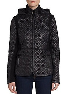 Saks Fifth Avenue BLUE Hooded Quilted Jacket