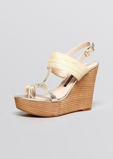 FRENCH CONNECTION Platform Wedge Sandals - Deisree