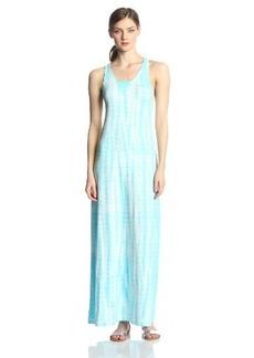Calvin Klein Performance Women's Scoop Neck Tie Dye Maxi Dress
