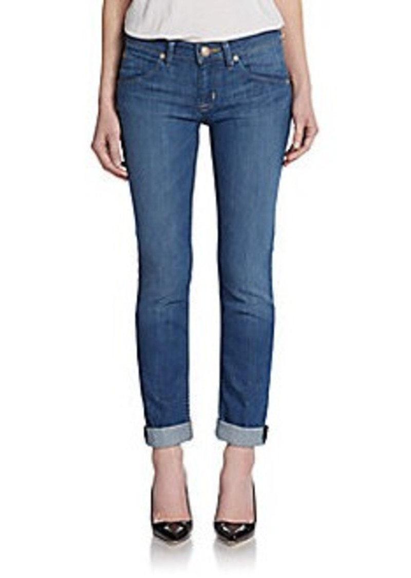 Hudson Straight Flood-Cuff Jeans