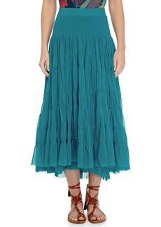 Jean Paul Gaultier Tiered Tulle Maxi Skirt