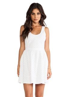 Joie Natrina Diamond Eyelent Dress in White