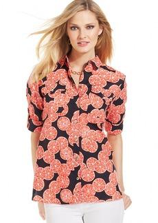 Jones New York Signature Petite Printed Shirt