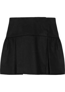 Miu Miu Wool-blend felt mini skirt