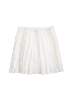 Swiss-dot pom-pom skirt
