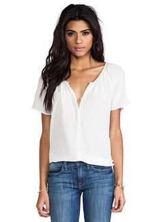 Joie Delmar Silk Top in White