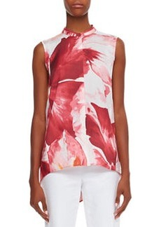 Lafayette 148 New York Sari Sleeveless High-Low Blouse