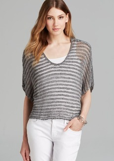 Eileen Fisher Scoop Neck Short Sleeve Boxy Sweater