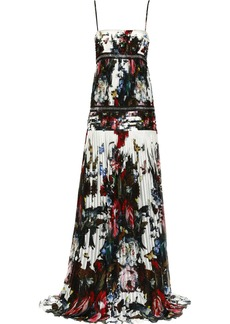 Roberto Cavalli Printed silk-chiffon gown