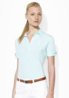 Roll-Sleeved Cotton-Blend Polo
