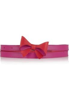 M Missoni Bow-embellished leather belt