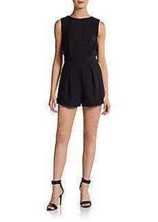 Saks Fifth Avenue RED Sleeveless V-Back Short Jumpsuit