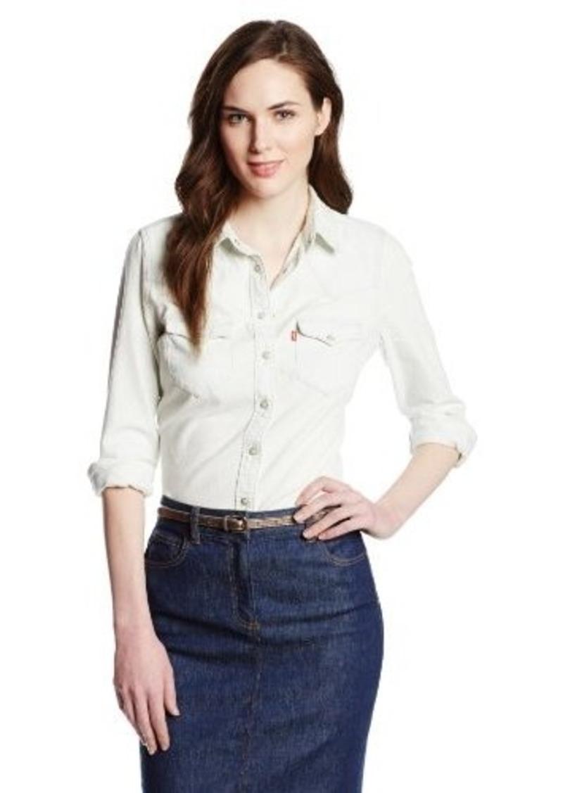 Levi's Women's Tailored Western Denim Shirt