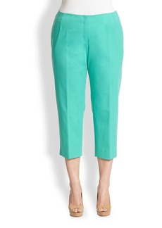 Lafayette 148 New York, Sizes 14-24 Bi-Stretch Zip-Front Cropped Pants