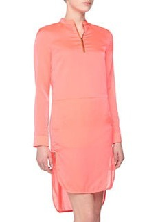 J Brand Ready to Wear Margaret Zip Shirtdress, Coral