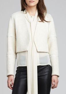 J Brand Ready to Wear Luce Leather-Trim Jacket