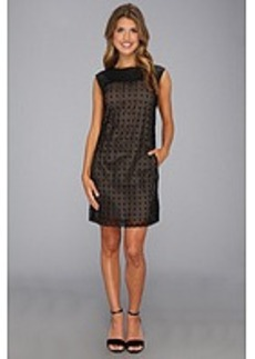 Catherine Malandrino Avara Leather/Lace Dress