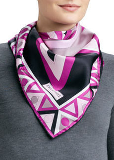 Mikonos Silk Scarf, Pink   Mikonos Silk Scarf, Pink