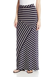 Jones New York Women's Striped Seamed Maxi Skirt