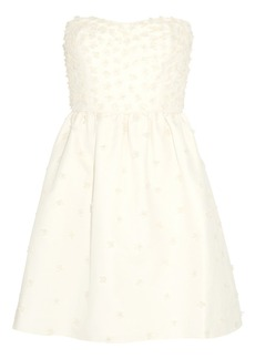 J.Crew Pearl appliqué cotton dress
