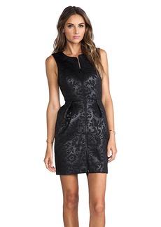 Tibi Tish Embossed Sleeveless Dress in Black