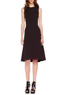 Michael Kors A-Line Crepe Dress, Blackberry