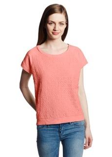 DKNY Jeans Women's Geometric Lace Sweatshirt Tee