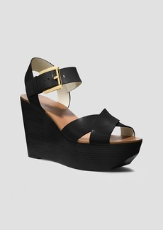 MICHAEL Michael Kors Open Toe Platform Wedge Sandals - Peggy