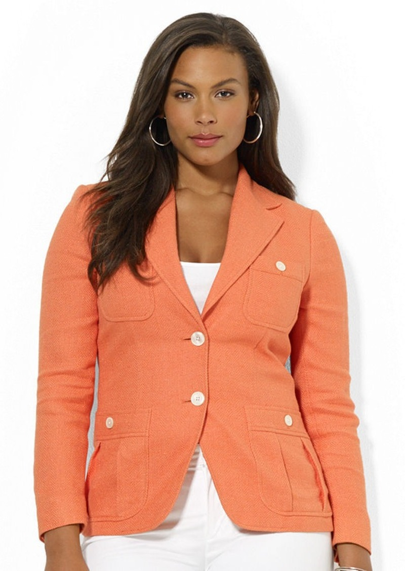 Ralph Lauren Lauren Ralph Lauren Plus Size Two-Button ...