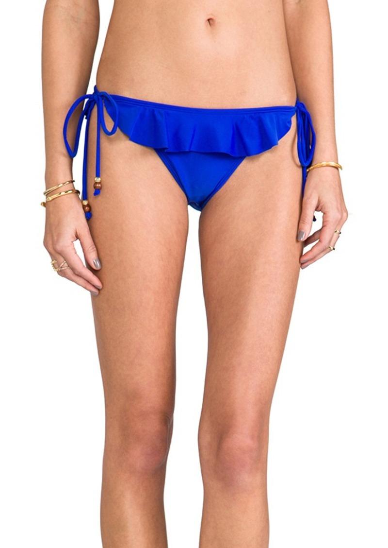 Shoshanna Ruffle Bikini Bottom in Blue