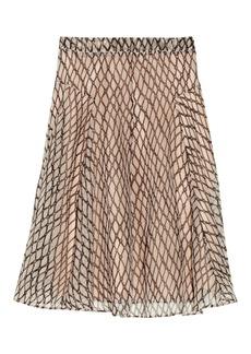 Marni Printed silk-organza skirt
