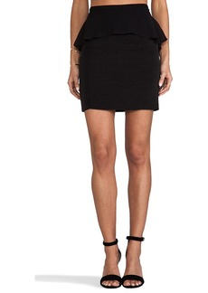 DV by Dolce Vita Darley Viscose Faille Skirt in Black