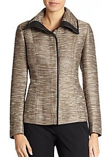 Lafayette 148 New York Devin Faux Leather Trim Jacket